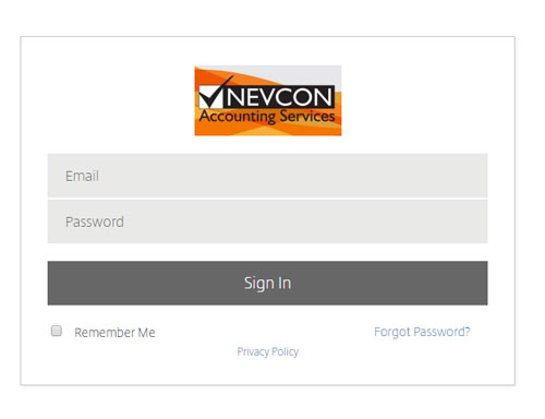 Nevcon Accounting client portal login